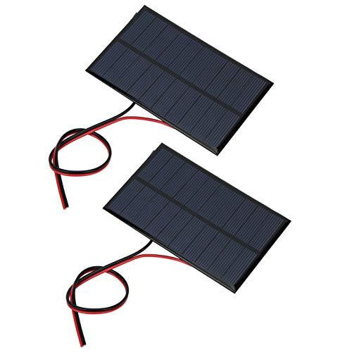 DONGYAO Módulo Systerm cargador batería 2 unids mini panel solar 2 unids batería tablero mini panel solar para camping para automoción para al aire libre