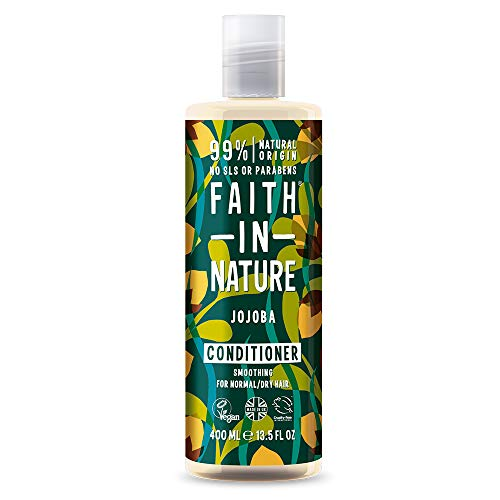 Faith in Nature Natural Jojoba Conditioner, Smoothing Vegan & Cruelty Free, Parabens and SLS Free, For Normal to Dry Hair, 400 ml