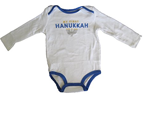 Carters Unisex Baby My First Hanukkah Collectible Bodysuit White 3M