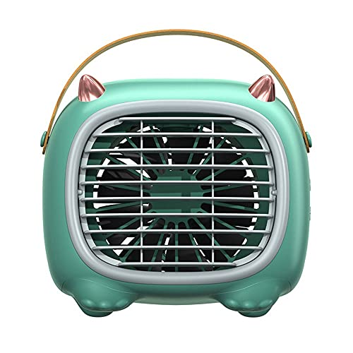 Mini Enfriador De Aire, Mini Aire Acondicionado Ventilador,USB Aire Acondicionado Refrigeración, Humidificación, Utilizado En Escritorios, Habitaciones, Oficinas (Color : Green)