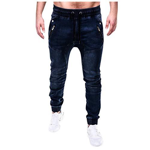 Find Discount Seaintheson Men's Sport Jeans,Casual Elastic Waist Drawstring Denim Trousers Slim Fit ...