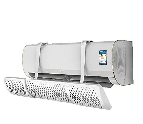 SY-Home Parabrezza Condizionatore, Antisoffiaggio Universale A Parete Presa d'Aria Universale Gancio Parabrezza Deflettore A Scomparsa con Filtro Cotone,Activated Carbon