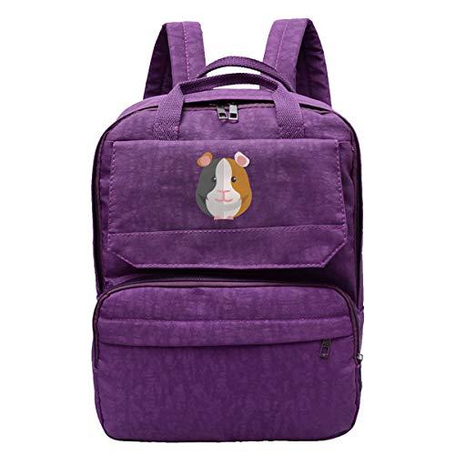 Women's Dayback Guinea Pig Cartoon Oxford Business Travel Backpack College High School Bookbag Laptop Backpack