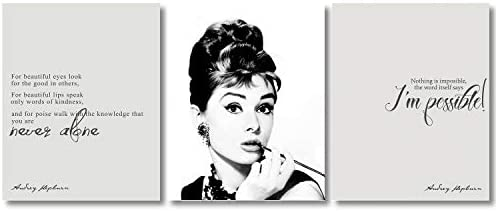 My Vinyl Story Audrey Hepburn Wall Art Poster Decor Print Inspirational Quote Picture for Girls product image