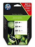 HP E5Y87EE 301 Original Ink Cartridge, Black and Tri-Colour, Multipack