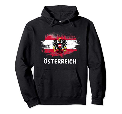 Österreich Flagge Austria Fahne Fan Pullover Hoodie