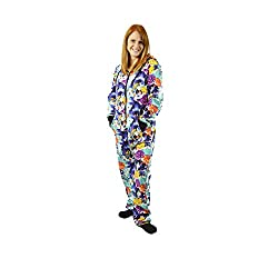 Hooded Onesie Jumpsuit with Drop Seat - Cats Cats Cats
