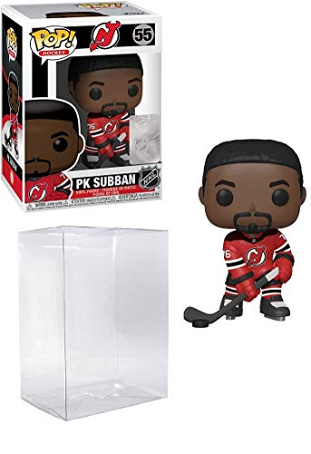 Pop Sports NHL PK Subban New Jersey Devils Home Jersey Action Figure (Bundled with Pop Shield Protector to Protect Display Box)