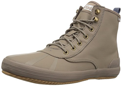 Keds Women's Scout Boot Splash Twill WX Sneaker, Taupe, 5 M US