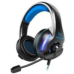 🎧【Casque Gaming Compabilité Puissante】Le casque gaming YINSAN est bien compatible pour PS4, Xbox one S, Xbox one(Microsoft adapteur non inclus), PC(Avec connecteur 3.5mm prise jack),Tablettes, Parfait pour gamers comme Halo 5 Guardians, Metal Gear So...