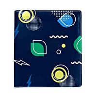 Carrozza ブックカバー 文庫 新書 幾何 個性 本カバー おしゃれ かわいい 25x28cm PUレザー 革
