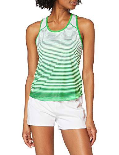 Wilson Damen Tennis-Tank Top, W Team Striped Tank, Polyester, Grün/Weiß, Größe: L, WRA766104
