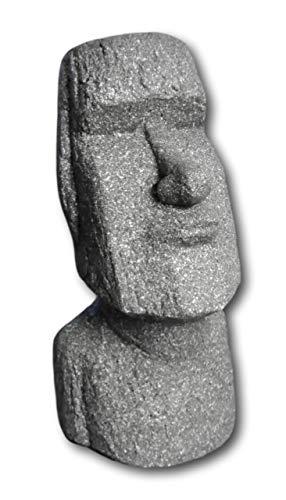 Moai Kopf Statue Skulptur Figur Dekoration für Haus Garten Steinfigur Osterinsel Gartenfigur Deko (Miitel (55cm))
