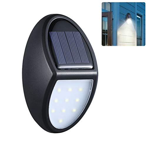 Macabolo 10 LED Solar Light Outdoor wandlamp waterdicht Solar Garden Light veiligheidslichten voor Steps Yard Garage veranda Patio