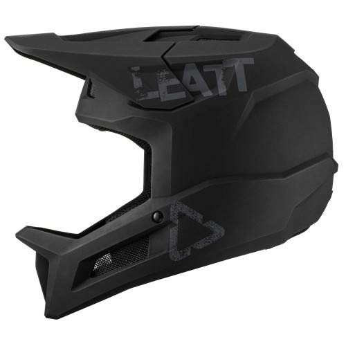 Leatt Casque MTB 1.0 DH Junior Casco de Bici, Negro, XS