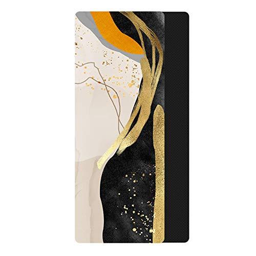Yuan Ou Esterilla Yoga 185 * 68 CM 1,5 MM Estera de Yoga de Goma Natural Impresa para Mujer esteras de Fitness Pilates Gimnasio Ejercicio Saludable Tapete 8
