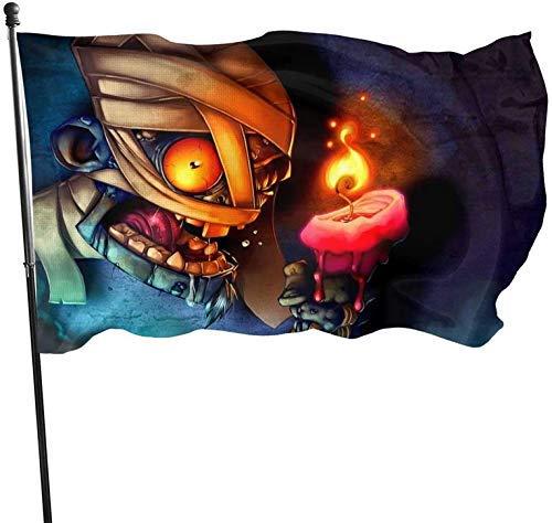 Halloween Zombie Mummy Scary Creepy Fiesta de bienvenida temática Decoraciones exteriores al aire libre Adornos Selecciones Hogar Casa Jardín Patio Decoración 3 x 5 pies Jumbo Gran bandera enorme