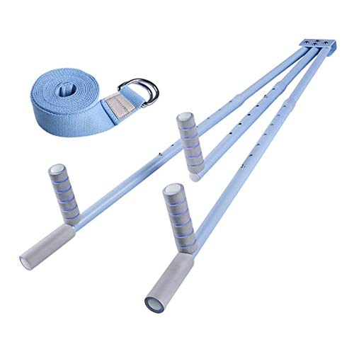 Kays Beintrainer Beinspreizer Spagattrainer Bein-Bahre-Training 3 bar Band Stretchmaschine 180 ° frei Öffnen und Schließen von Bein Split Dehnungsmaschine mit Stretchriemen (Color : Blue)