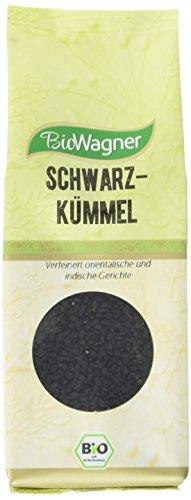 Bio Wagner Bio Schwarzkümmel Samen aromatisches Gewürz für Brot, Kartoffeln, Gemüse & Eintöpfe, natürlich & ungemahlen, Schwarzkümmelsamen, 4er Pack (4 x 80 g)