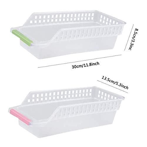 Kühlschrank Organizer,RoadLoo 6 Stück pp Kunststoff Kühlschrank Container Aufbewahrungsbox Bruchsicherem Kühlschrankbox Stackable Pantry Lagerung Box Zufällige Farbe für Gefrierschrank Küche Schränke.