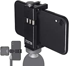 Phone Tripod Mount Adapter for iPhone, Cell Phone Tripod Mounts Adapter Regulate Phone Aluminum Tripod Adapter for Smartphone(Metal)