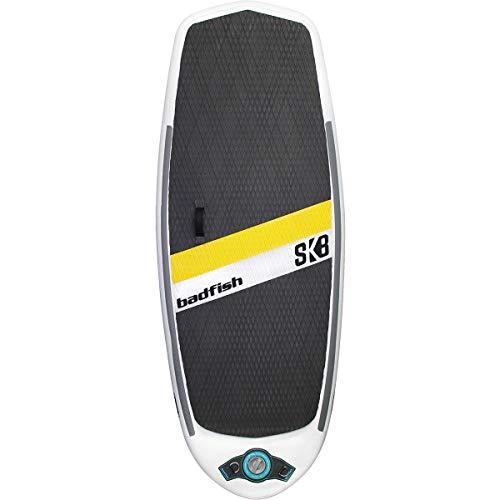 Badfish SUP Inflatable SK8 River Surfing Surf Board (Removable Flex fins, Pump, Bag, Included)