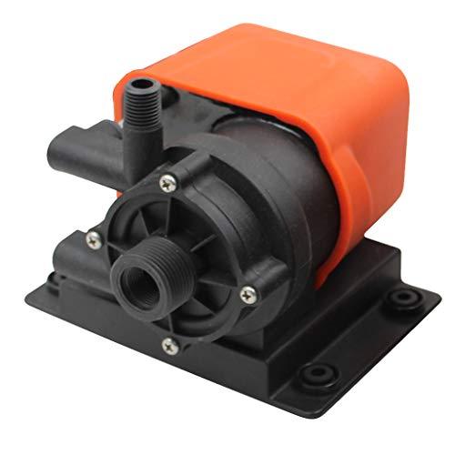Homyl Pompa di Aria Condizionata Circolazione Magnetica per Barca Nautica - Nero + Arancione, 500GPH 220V