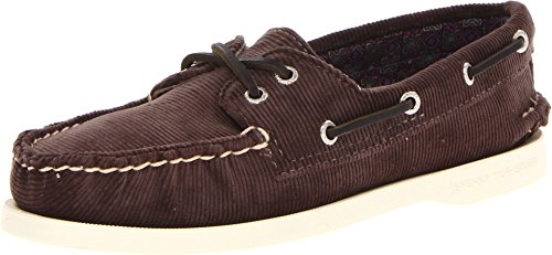 Sperry Top-Sider Women's A/O 2 Eye Grey Washed Corduroy Boat Shoe 11 M (B)