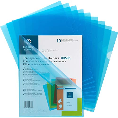 Business Source Transparent Poly File Holders