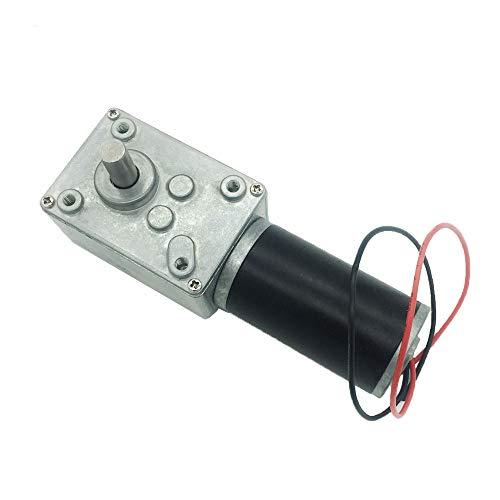 BRINGSMART 12V 40rpm DC Worm Gear Motor 40kg.cm Self-locking Reversed Engine Mini Turbine Geared Motor for DIY Robot Rotating Table Door Lock Curtain Machine (12V 40rpm)