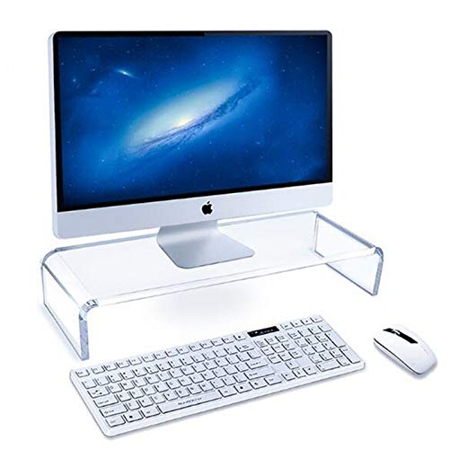 Acrylic Monitor Stand, Laptop Stand Riser Multifunctional Ergonomic Office Desk Organiser for Home Office Computer Laptop Tv Tablet Printer Projector