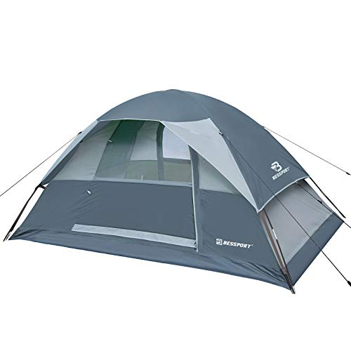 Bessport Camping Tente 2 Personnes Imperméable Tente Ultra Légère 4 Saison Facile à Installer Tentes Dôme Double Couche Tente Ventilée pour Pique-Nique, Randonnée, Camping