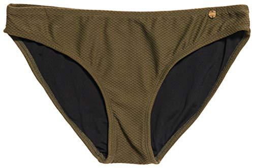 Superdry Damen Sophia Textured Cup Bikini Bottom Bikinihose, Khaki, 38 DE/XS