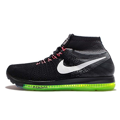 Nike Air Zoom All Out Flyknit Men's Running Shoe (Medium, Black/Cool Grey-Volt/White)
