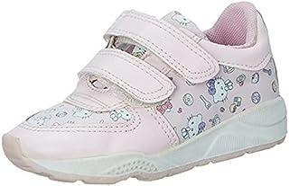 Skippy Kitty Print Velcro Closure Sneakers for Girls - Pink, 28 EU
