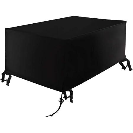 Xiliy Meubles Table Couverture Polyester Housse de Protection pour Rectangulaire Meuble de Jardin Bâche Housse Rectangulaire 242 x 162 x 100 cm