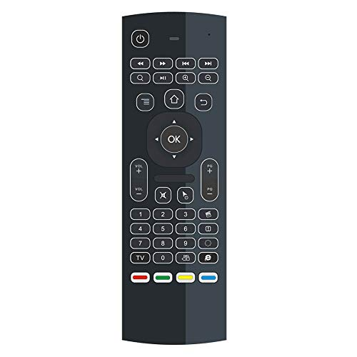 Jaimenalin MX3 Pro Backlight 2.4G Air Mouse Keyboard, Air Remote Mouse 3D Fly Remote Controller para Android, TV Box, IPTV, EE. UU.