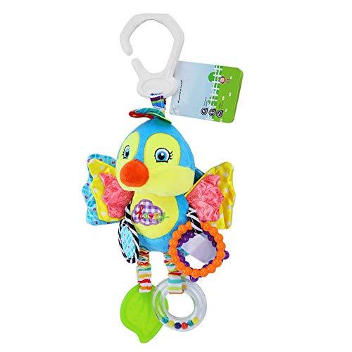 Baby Rassel hängen Spielzeug für Bett Krippe Kinderwagen Kleinkind Cartoon Tier Plüsch Dekoration Puppe mit Clip Beißring Spiege(# 4)