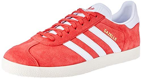 adidas Gazelle, Zapatillas de Gimnasia para Hombre, Rojo (Tactile Red/Footwear White/Cream White 0), 36 2/3 EU