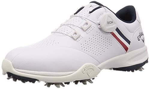 [キャロウェイ フットウェア] レディース ゴルフシューズ 軽量 (BOA システム) [ 247-0996801 / AEROSPORT WM20 ] ゴルフ 靴 031_ホワイト/ネイビー 24 cm