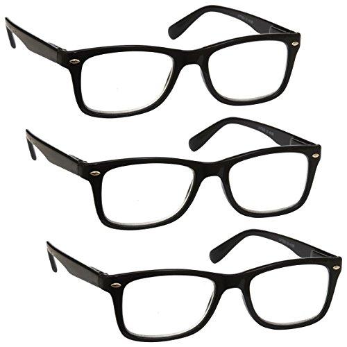 1,00 UV Reader Nero Verde Brillante Collo Occhiali Da Lettura Valore 2 Pacco Donna Uomo UVR2PK021 Diottria