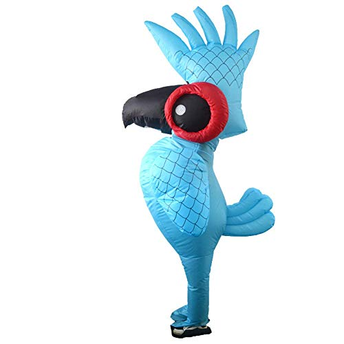 Disfraz Loro Inflable Adulto Despedida de Soltero Hinchable Disfraz de Halloween Carnival Fancy Dress Fiesta Divertido Disfraz de Aire Cosplay Inflatable Costume,Azul (A)