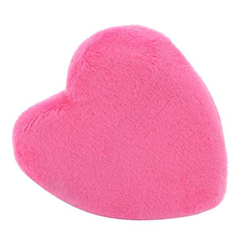 MNSYD Maquillage Blendiful Puffs Grand Face Powder Puffs Coton Velour Love Shape avec Sangle Beauté Éponges Blender Maquillage Outil,Rose Rouge 2