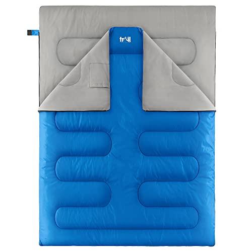 Double Sleeping Bag For Adults, Envelope 2 Season Summer Spring Autumn...