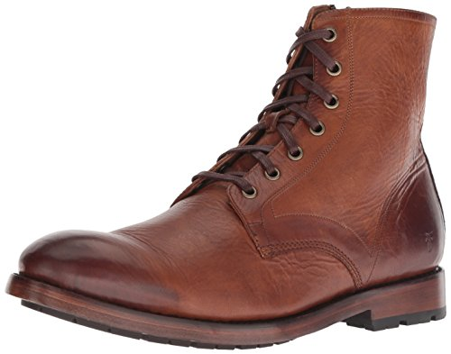 Frye Men's Bowery Lace Up Combat Boot, Cognac, 9.5 Medium US