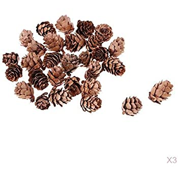 n Inconnu 9pcs Suspension Noel Pomme de Pin Naterelle Or Pendentif Noel D/écoration Arbre de No/ël Suspendu 4cm avec Ficelle