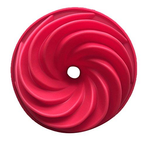 Single Whirlpool Moule en Silicone DIY Outils de mâchoire Maison Backen 24,5 x 8,9 cm, 1 pièce