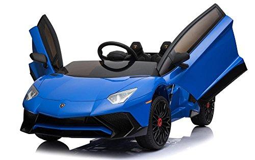 UK 12V 7A Bleu Aventador SV Licence Powered Battery Enfants électrique Monter sur la Voiture de Jouet BDM0913