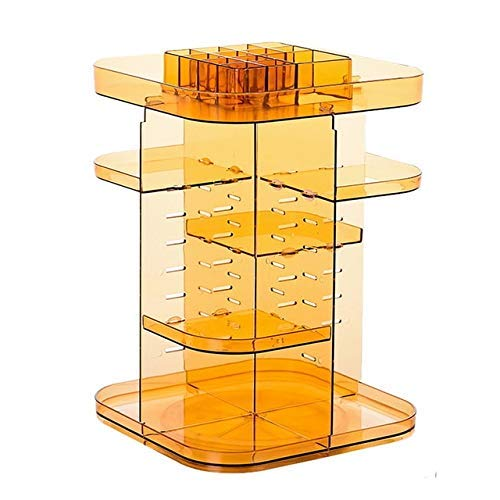 ZHAS Boîte de Rangement cosmétique 360 degrés tournant la boîte de Rangement de Maquillage boîte de Rangement de Support de Brosse Boîte de Rangement cosmétique