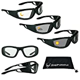 BIKERSHADES Transitional Motorcycle Riding Glasses Safety...